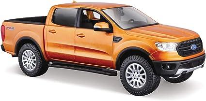 Special Edition 2019 Ford Ranger 4 Door Cab orange scale 1:24 model car diecast