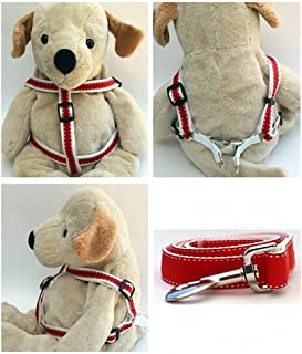 "product image for Diva-Dog 'Preppy Red' Custom 5/8"" Wide Dog Step-in Harness with Plain or Engraved Buckle, Matching Leash Available - Teacup, XS/S"
