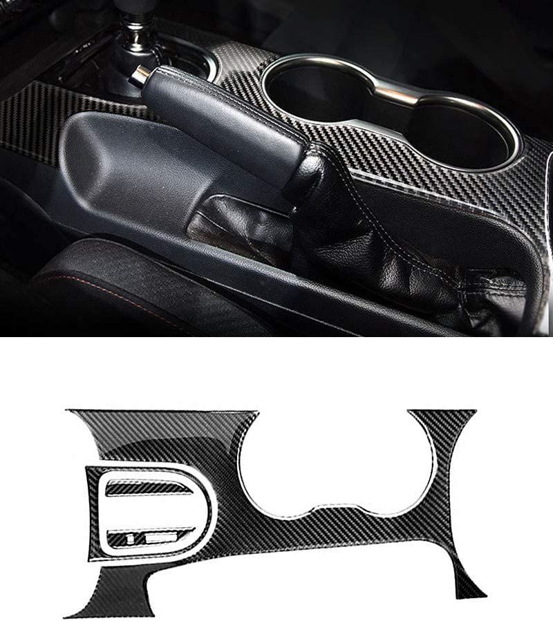 Carbon Fiber Control Gear Shift Panel Decorative Cover Car Styling Sticker
