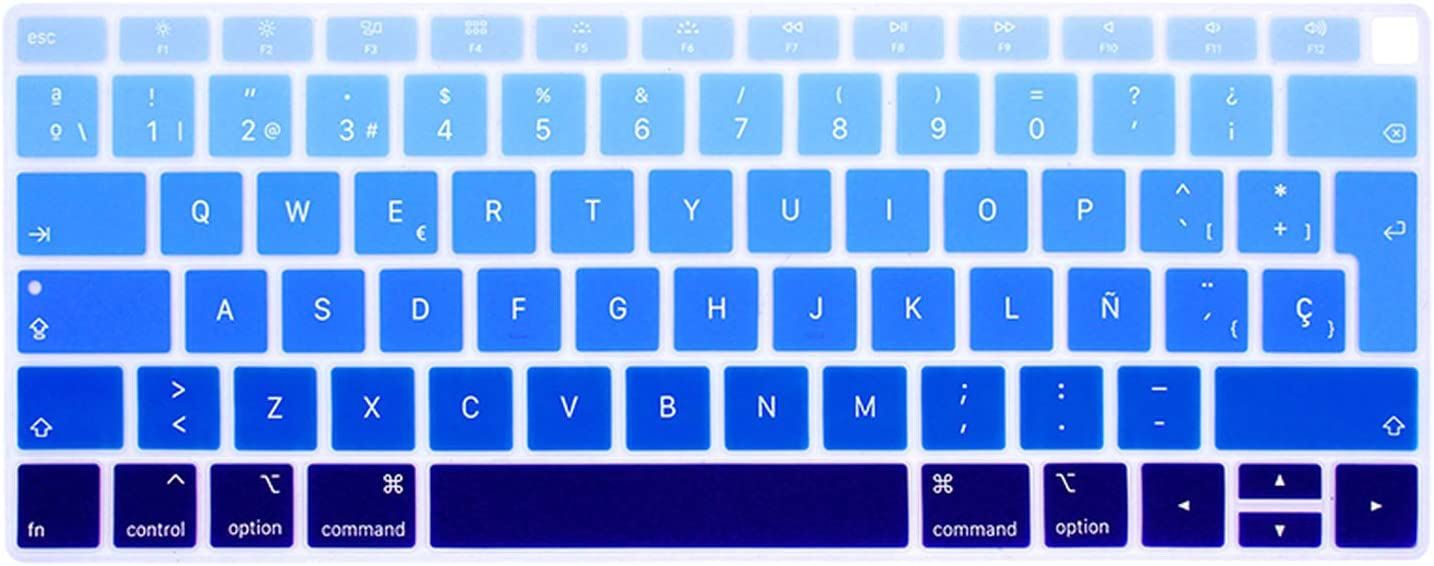 Spanish Chile Laptop Keyboard Cover for MacBook air 13 EU Keyboard Cover Color Protective Film Display Spain Language-Green