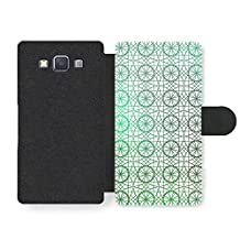 Circle and Geometrical Stained Glass Pattern Faux Leather case for Samsung Galaxy A3 (2014 edition)
