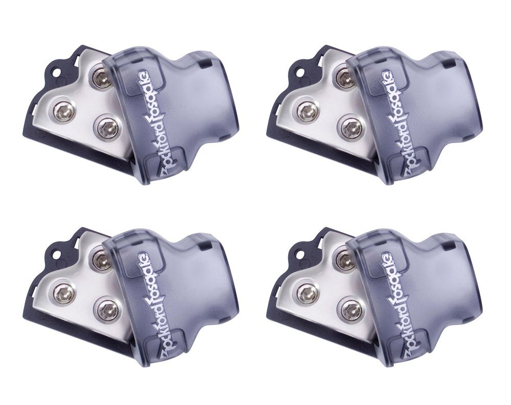 4) ROCKFORD FOSGATE RFD1 0/1/4-Gauge Ga Car Audio Distribution Blocks 1-In 2-Out