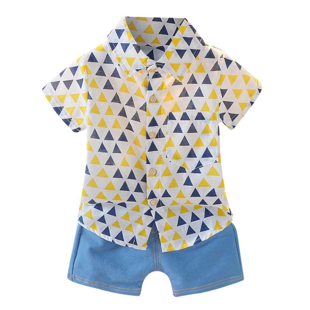 POLP Niño Conjunto,Impresión geométrica Manga Corta Polo para,Niños Azul/Rosa Manga Corta,Regalos para Niños,Gentleman Camiseta Manga Corta para y ...