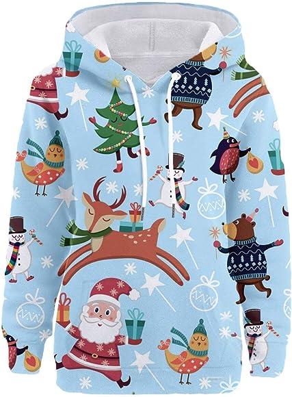 UK Womens Hoodie Shirt Winter Sweatshirt Tops Ladies Pullover Jumpers Blouse