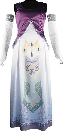 XYZcos Disfraz de princesa de la leyenda de Zelda para mujer ...