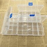 YB-OSANA 3 Packs! Detachable 15 Slots Plastic Components Tool Storage Cases Boxes Electronic Parts Plastic Storage Case Box