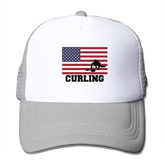 HAT-HAT Curling USA Flag Men Women Adjustable Snapback Hats Dad Hats ... d70d9eff2f