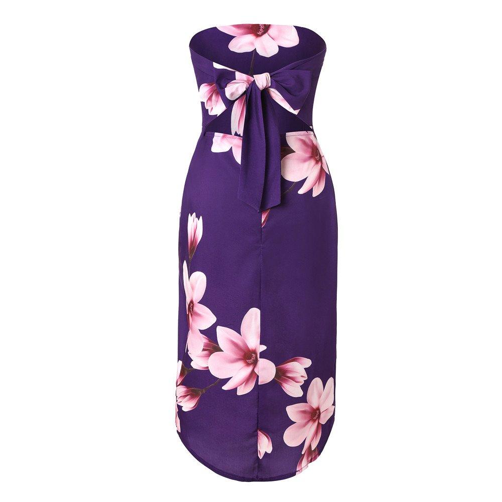 Womens Dresses Teen Girls Casual Summer Off Shoulder Floral Print Slit Beach Sundress Midi Dress for Teen Girls at Amazon Womens Clothing store: