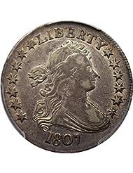 1807 P Bust Half Dollars Draped Bust Half Dollar XF40 PCGS\CAC