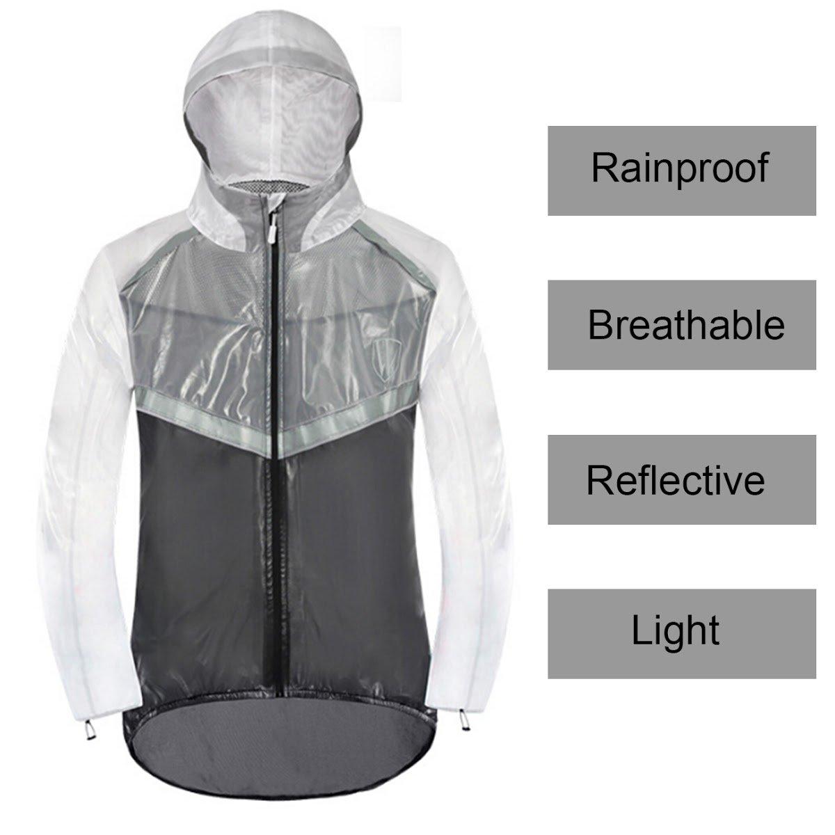 TargetEvo Men Women Cycling Riding Waterproof Raincoat Bike Rain Jacket & Trousers Suit Reflective Black/Green