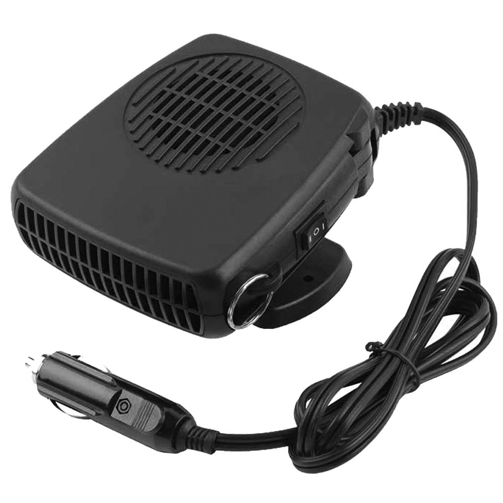 WANYIG Portable Auto Car Heater Cooling Fan 12V 200W Windscreen De-Icer Demister Defroster Heater With 360° Adjustable and 1.5M Cable