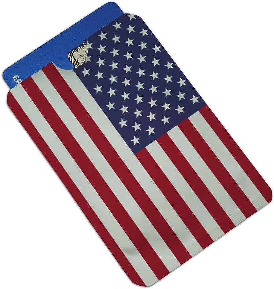 President Trump American Flag Credit Card RFID Blocker Holder Protector Wallet Purse Sleeves Set of 4