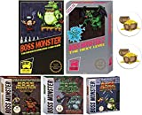 Boss Monster Card Game Bundle with Boss Monster 1 and 2, Implements of Destruction, Crash Landing, Tools of Hero Kind Plus 2 Treasure Chest Buttons