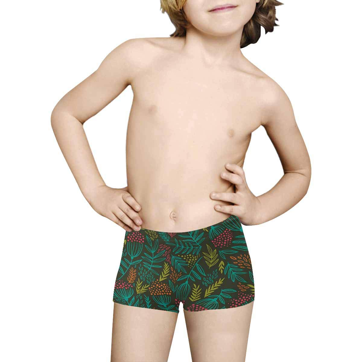 5T-2XL INTERESTPRINT Boys Rowan Branches in Style Boho All Over Print Boxer Briefs