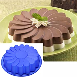 3D Silicone Large Flower Cake Mould Chocolate Soap Candy Jelly Mold Baking Pan,Resistant Low and High Temperature Non-Stick Baking Pastry Tools, Easy to Use and Clean Gessppo