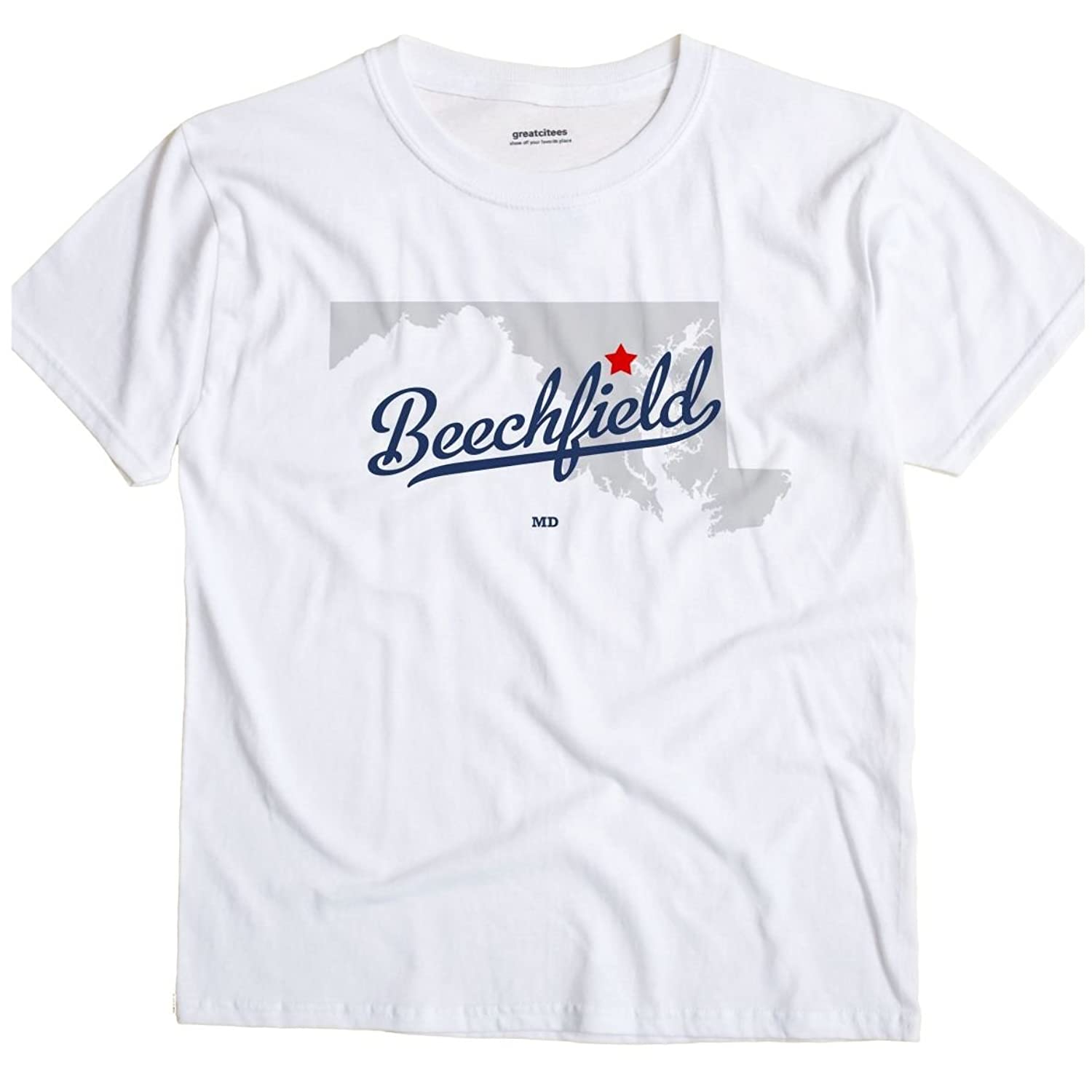 Beechfield Maryland MD, Neighborhood of Baltimore MAP GreatCitees T Shirt
