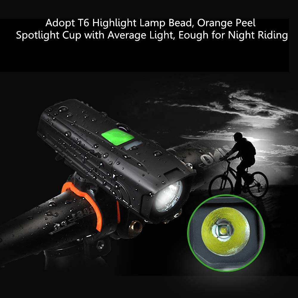 Road IP65 Waterproof Bicycle Headlight-Taillight Combinations for Bicycles 450 Lumen Bike Headlight with 5 Lighting Modes Scooter Bike Light USB Rechargeable MTB