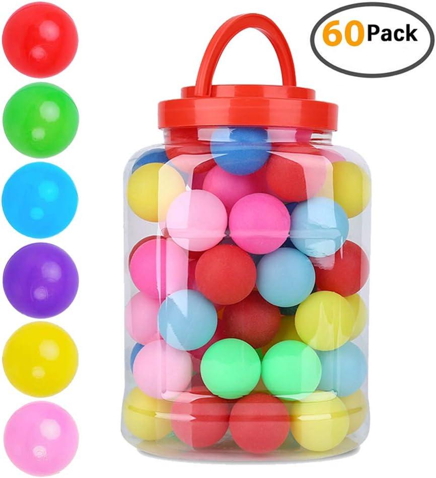 VGEBY1 - Pelota de Ping-Pong de plástico de 40 mm para práctica de Ping Pong, Clase Deportiva, Juegos de Carnaval, lotería, decoración, 60 Unidades