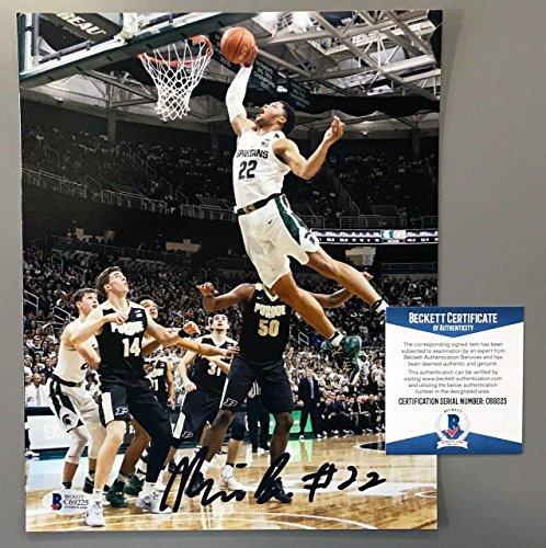 (Miles Bridges Signed Michigan State Spartans 8x10 Photo Beckett Coa Bas - Beckett)