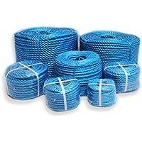 Cuerda de polipropileno 8mm x 50metros azul color