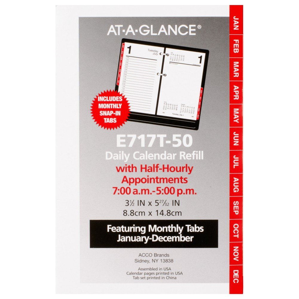 AT-A-GLANCE Daily Desk Calendar 2016 Refill, 12 Months, 3.5 x 6 Inch Page Size (E717T50)