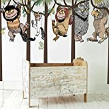 Designer Playground Max and Monster Hanging on Trees wall decal MT041 multi color