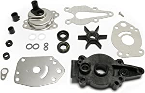 Full Power Plus Mercury Mariner Mercruiser Force Impeller Kit Replacement (1999-UP) for 6 8 9.9 10 15HP with Housing 46-42089A5 Outboard Water Pump Impeller Repair Kit