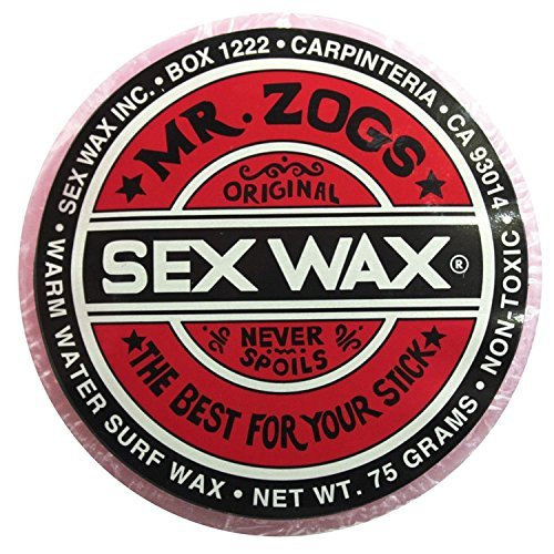 Mr. Zogs Original Sexwax - Warm Water Temperature Strawberry Scented (Light Red Color)