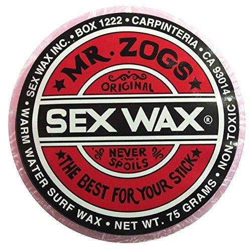 Mr. Zogs Original Sexwax - Warm Water Temperature Strawberry Scented (Light Red Color) (Sex Wax Sticker)