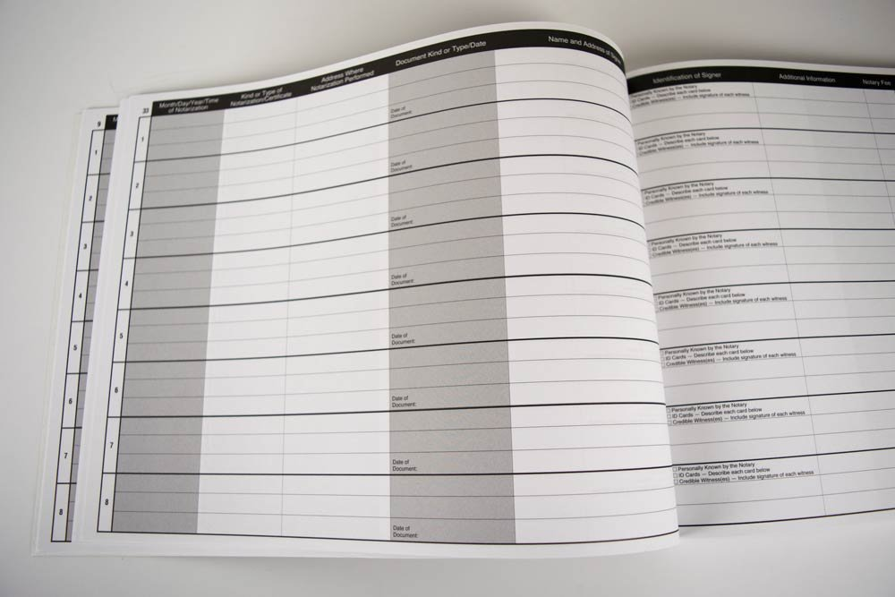 118 Heavyweight Pages Measuring 11 by 8.5 inches - Space for 486 Notarization Entries