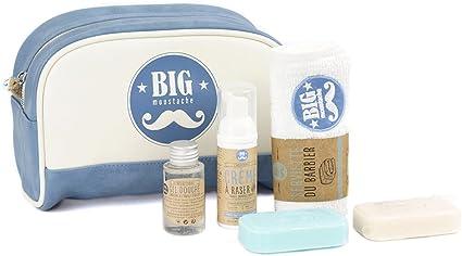 Big bigote – Estuche escolar del Gran Viajero – Bolsa de aseo/crema de afeitar/Gel de ducha/2 jabones/toalla: Amazon.es: Belleza