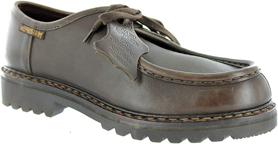 Mephisto - Zapatos de Cordones de Piel para Hombre marrón marrón ...