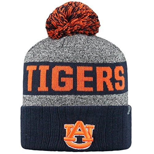 Top of the World NCAA Arctic Striped Cuffed Knit Pom Beanie Hat-Auburn Tigers ()