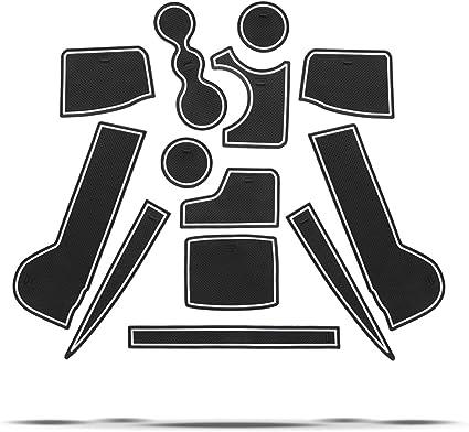 CDEFG para Seat Tarraco 2019 Coche Accesorios Antideslizante Copa Mats Anti Slip Puerta Ranura de Acceso Kit de la Estera del coj/ín de la Ranura decoraci/ón de Interiores Blanco