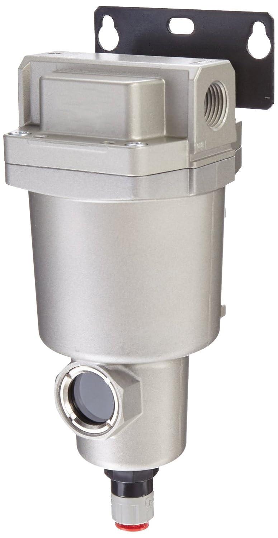 SMC AMG150C-N02BC Water Separator, N.C. Auto Drain, 300 L/min, 1/4' NPT, Mounting Bracket 1/4 NPT