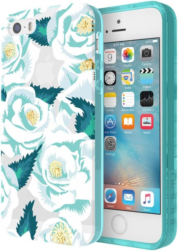 Incipio Carrying Case for Apple iPhone SE/5S/5 - Retail Packaging - Wild Rose/Teal