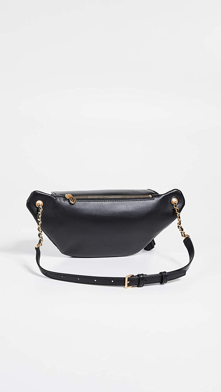 Tory Burch Womens Fleming Belt Bag Black One Size