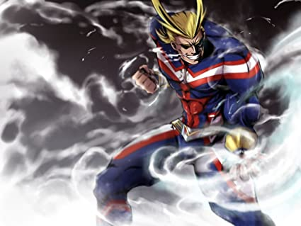 7e769a96 Image Unavailable. Image not available for. Color: XXW Artwork My Hero  Academia All Might Poster One·for·All/Detroit Smash