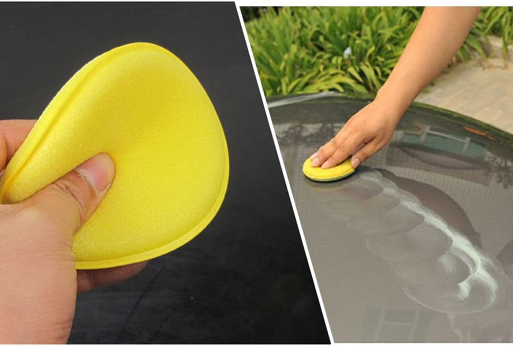 WINOMO 12pcs Waxing Polish Wax Foam Sponge Applicator Pads for Cars Vehicle Glass Cleaning Yellow