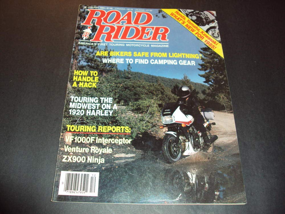 Road Rider Magazine Jan 1985 Touring The Midwest On A 1920 ...