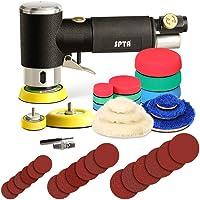 SPTA 25mm 50mm 80mm excenterschuurmachine perslucht hoekslijper polijstmachine/polijstmachine met 23tlg polijstsponzen…