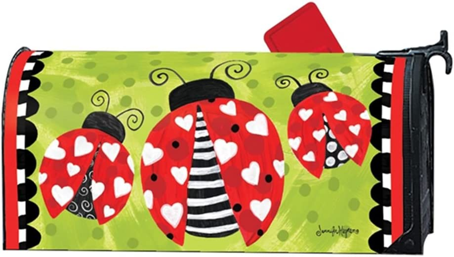 MailWraps Love Bug Valentine Magnetic Mailbox Cover