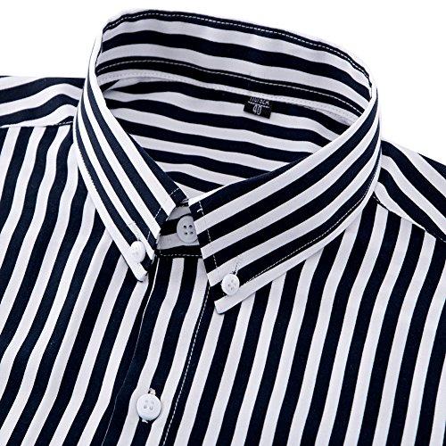 aadda5ed93 DOKKIA-Mens-Casual-Long-Sleeve-Vertical-Striped-Slim-Fit-Dress-Shirts