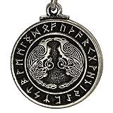 Pewter Odin's Ravens Huginn and Muninn Norse Rune Pendant Jewelry