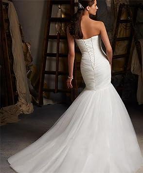 HAPPYMOOD Vestido de novia Mujer Cordón largo Vestido de bola Vestidos de novia Para la novia