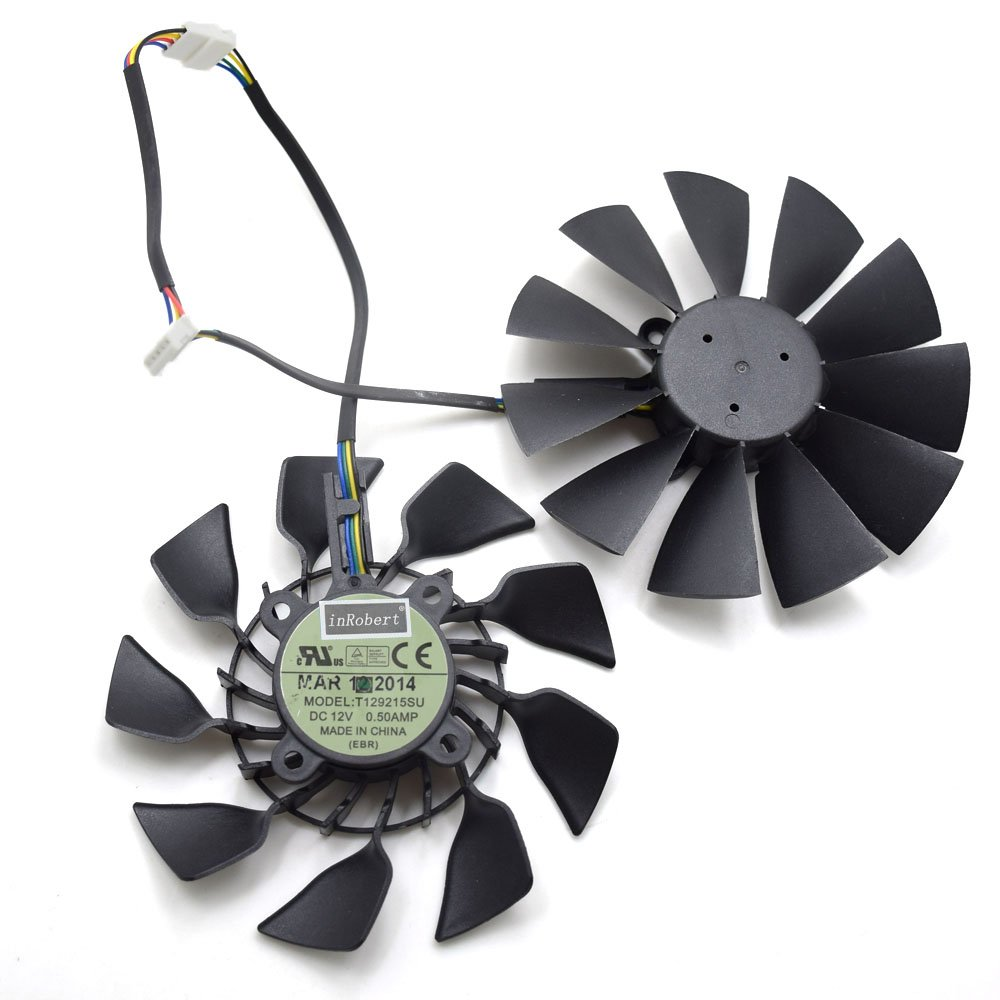 inRobert 95mm T129215SU Cooler Fan For ASUS Radeon R9 280 280 X 290 290X Graphics Card Fan Replacement (Fan-AB)