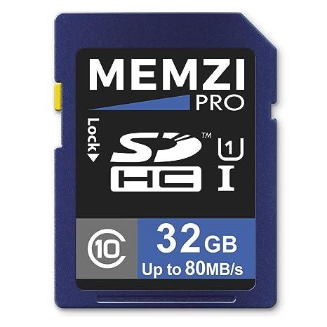 Memzi Pro 32 GB clase 10 80 MB/s tarjeta de memoria SDHC ...