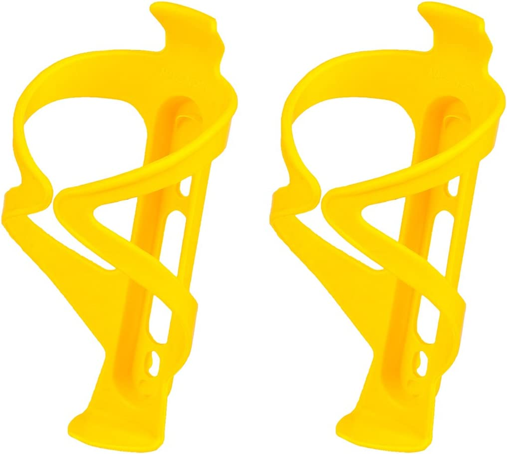 Bike Water Bottle Cage, Secure Retention System, No Lost Bottles, Lightweight and Strong Bicycle Bottle Holder, Great for Road, Mountain and BMX Bikes - 2pcs Bicycle Bottle Cage