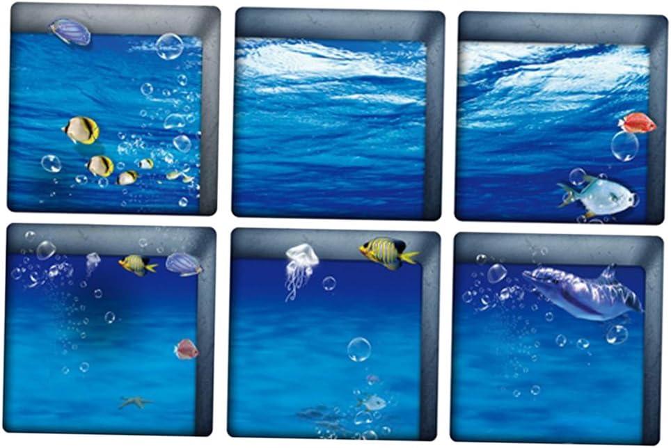 2 3d Autoadesive Tappetino Anti Scivolo Antiscivolo Impermeabile Adesivo Per Vasca Da Bagno Piastrelle Pavimento Parete