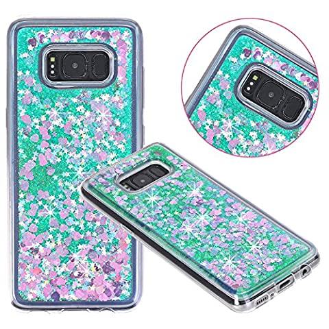 AOKER Galaxy S8 Case, Liquid Case, Fashion Design Liquid Quicksand Moving Stars Bling Glitter Floating Dynamic Flowing Luxury Bling Glitter Sparkle Diamond Soft Case for Samsung Galaxy S8 (Iphone 6 Case Otterbox Hunting)